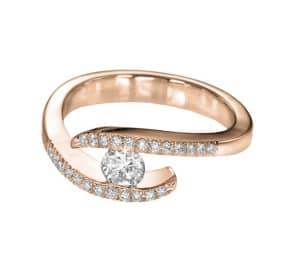 IM671 diamond engagement ring rose gold ethernity vintage 2