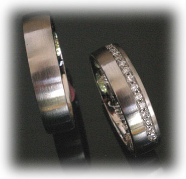 IM344 infinity eternity platinum gold rings set matted