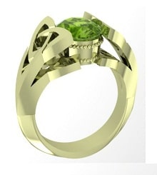green gold ring wedding engagement
