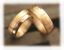 yellow gold wedding bands ice matted