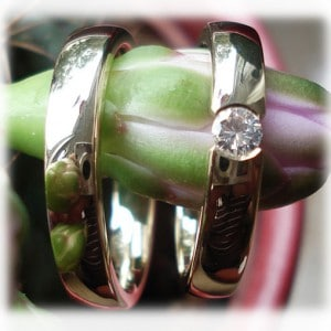 IM243 Diamond Wedding Rings Yellow Gold 585750, classic polished