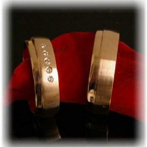 (IM260) Diamond Wedding Rings  Yellow Gold 585750, polishedmatted