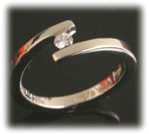 IM646 gold engagement rings promise vintage 2