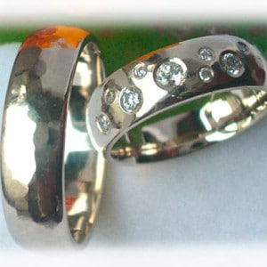 IM229 Diamond Wedding Rings Grey Gold or Platinum 600 950 n
