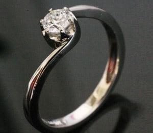 IM668 Platimun Engagement Vintage Diamond Ring 0,32ct. II