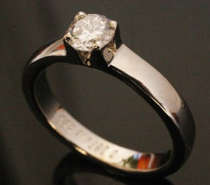 IM653 Engagement Diamond Ring Platinum or White Gold 0,40k II