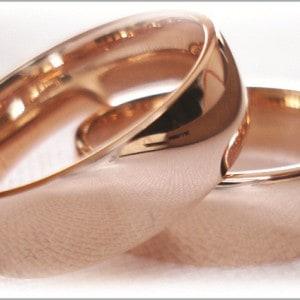 FT231 Trauring ringe hochzeit rose gold