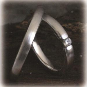 FT294 eheringe diamant o,20ct klassisch matt