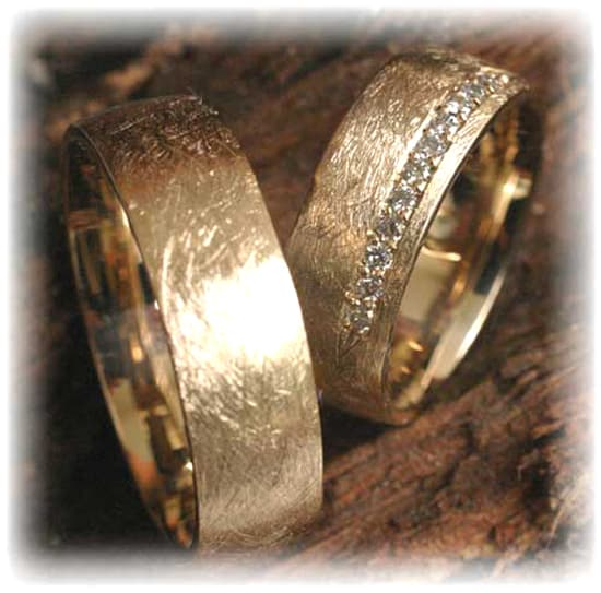 Wedding rings gold  Diamond Wedding Rings FT261 Ice Matted, Yellow Gold 585/750 ...