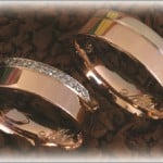 FT264 trauringe eheringe diamanten rosegold bicolor