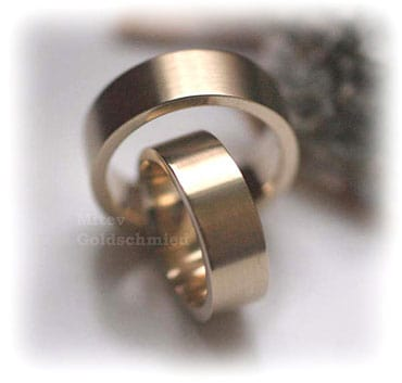 IM334 classic yellow gold wedding rings sets matted