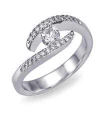 engagement diamond ring white gold 0,5 ct.  IM405