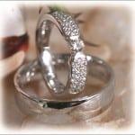 FT281 eheringe orient 0,20ct diamant weissgold poliert