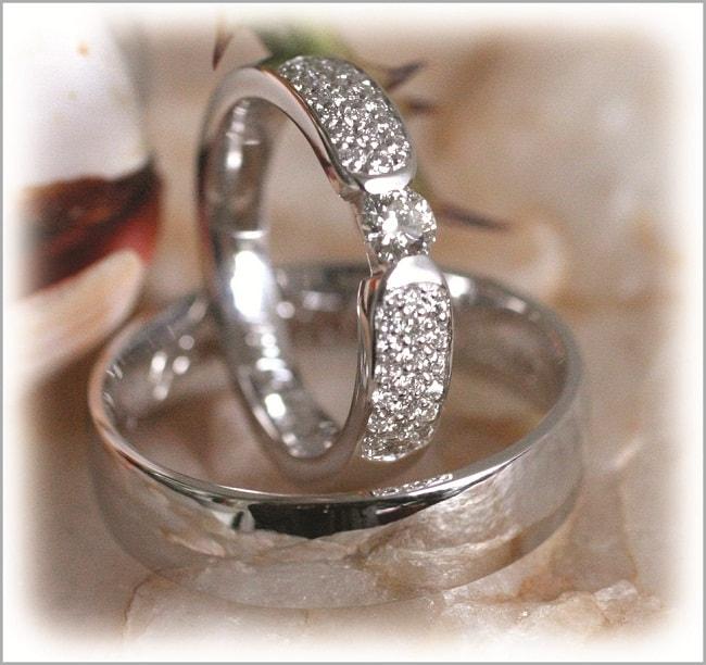 Diamond Wedding Rings Ft281 White Gold Or Platinum Engraved