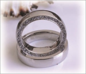 Diamond Wedding Rings (FT253) Diamond Channel, White Gold or Platinum 2
