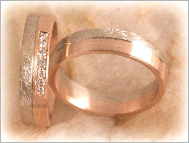 diamond wedding bands ft289 bi metal white rose gold ice. Black Bedroom Furniture Sets. Home Design Ideas