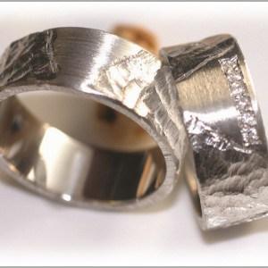 FT290 vintage weissgold gehaemmert matt platin