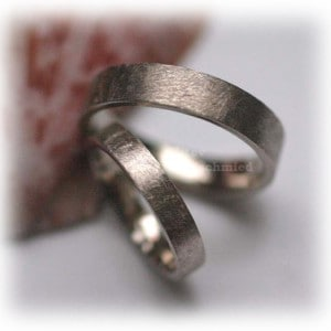 Classic Wedding Rings FT342 White Gold or Platinum, ice matted