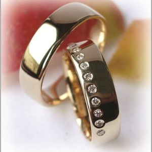 Diamond Wedding Rings FT222 Polished, Yellow Gold 14ct