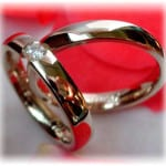 Diamond Wedding Rings FT242 White Gold or Platinum 950, polished