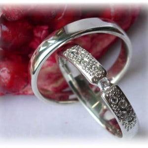 Diamond Wedding Rings FT245 White Gold or Platinum 950, polished