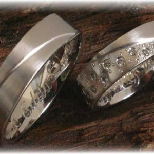Diamond Wedding Rings FT269 White Gold or Platinum, eternity