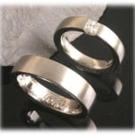 Diamond Wedding Rings FT300 White Gold or Platinum, princess cut