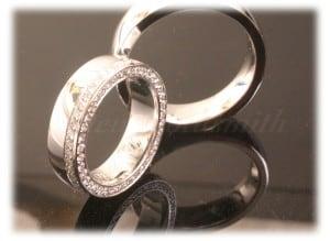 Diamond Wedding Rings FT315 White Gold or Platinum, eternity 2