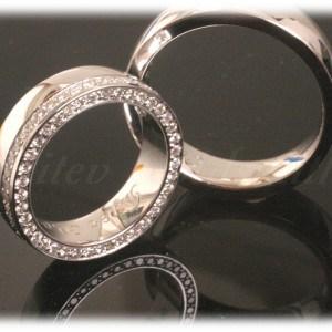 Diamond Wedding Rings FT315 White Gold or Platinum, eternity