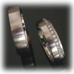 Diamond Wedding Rings FT344 Platinum or White Gold 950, eternity