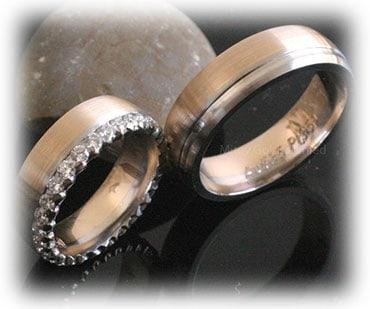 IM333 unusual unique wedding rings two tones gold