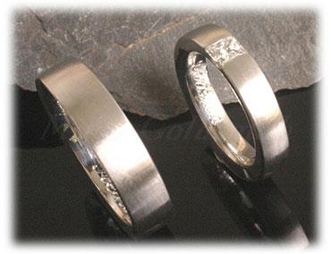 IM300 princess cut diamond vintage wedding rings