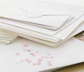 Wedding ideas - sending out the invitations