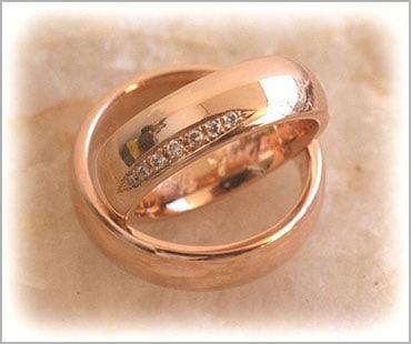 IM288 rose gold wedding bands rose gold polished
