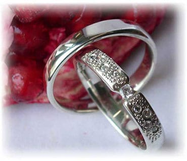 IM245 platinum wedding ring sets polished unusual