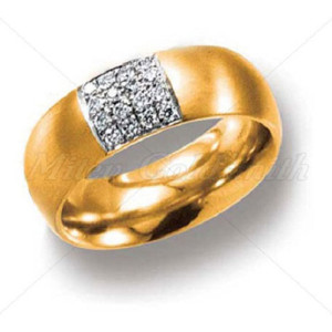 IM622 yellow gold engagement ring 14k with oval diamonds