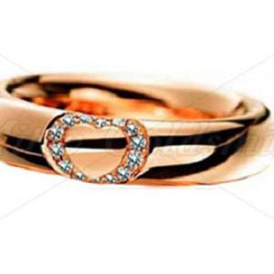 IM624 rose gold engagement rings round diamond heart