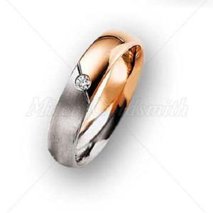 IM627 rose gold engagement rings single diamond two wone