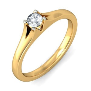 IM648 yellow gold engagement rings promise diamond