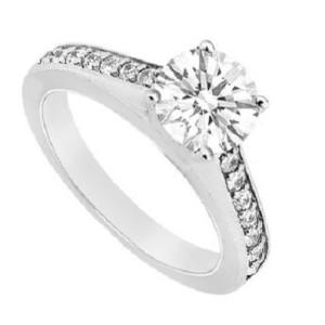 IM649 platinum engagement rings 1k diamonds unique