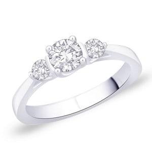 IM650 0,7k oval diamond engagement rings platinum gold