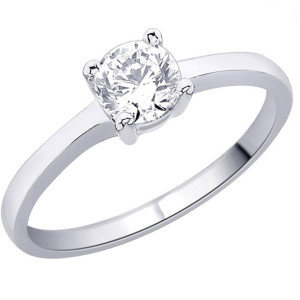 IM653 engagement rings diamond white gold 0,5k