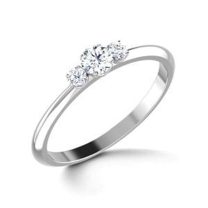 IM657 fine platinum diamond rings unique 0,5k