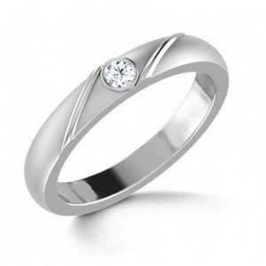 IM662 single diamond engagement rings white gold