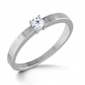 IM665 oval diamond engagement rings white gold