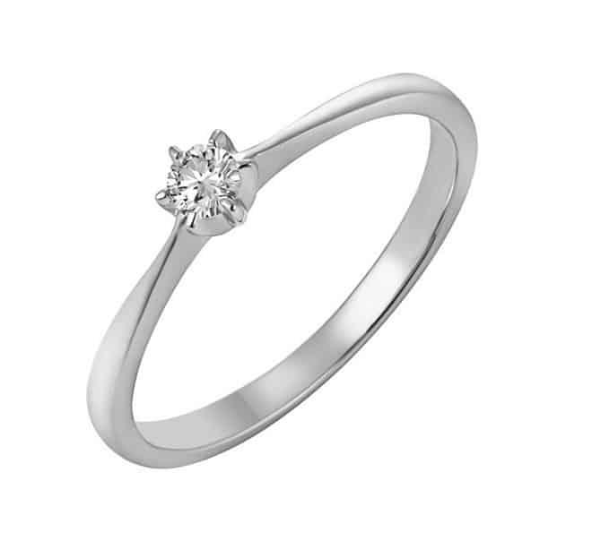 IM667 Single Diamond Engagement Ring - White Gold 0,15ct. - Online ...
