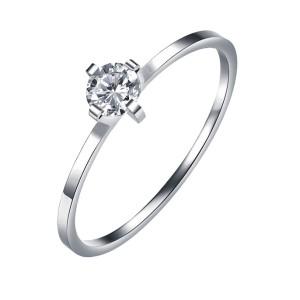 IM670 platinum unique engagement diamond ring 0,40ct.