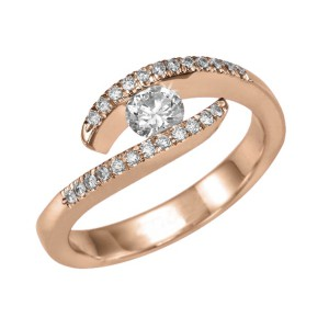 IM671 diamond engagement ring rose gold ethernity vintage 1