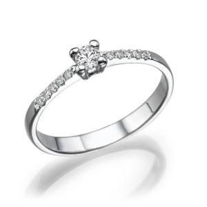 IM674 vintage diamond ring white gold 1