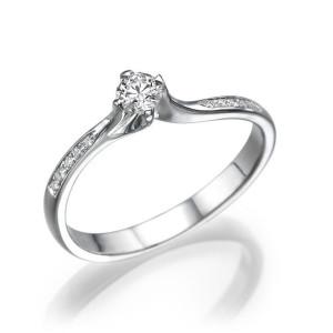 IM676 promise rings for women platinum band 1